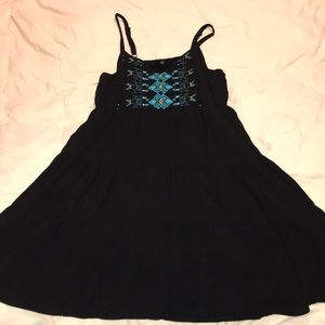 Black sundress with tribal front
